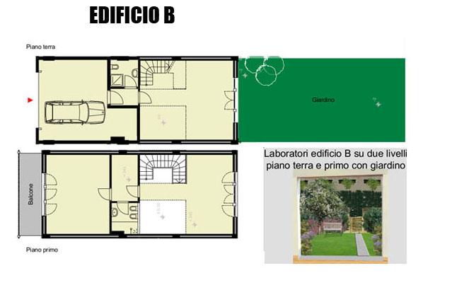 Due livelli con giardino vp10 affitto loft milano lambrate for Piani di ponte su due livelli